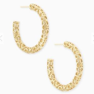 EUC Kendra Scott Maggie Small Gold Hoop Earrings